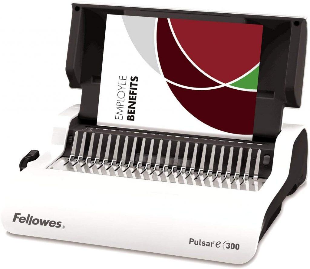 Encuadernadora Fellowes pulsar E 300 electrica de canutillo