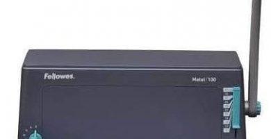 Fellowes Metal 100R- Encuadernadora manual de espiral metálico, con palanca ergonómica en forma de U, Sin rodillo insertador