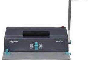 Fellowes Metal 50R - Encuadernadora manual de espiral metálico, uso frecuente, con rodillo insertador eléctrico