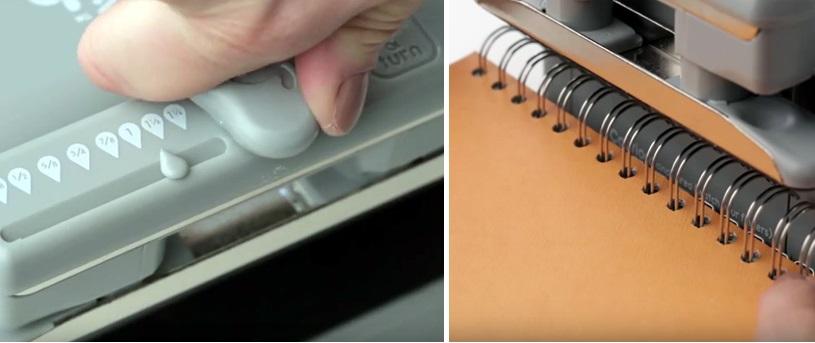 como escoger anilla para encuadernadora cinch