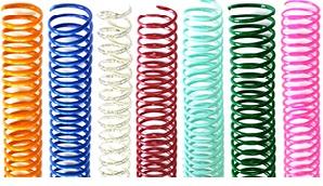 espirales de encuadernacion plasticos y metálicos