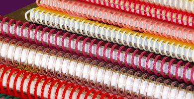 espirales de encuadernar colores