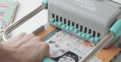 uso y como hacer agujeros con encuadernadora cinch